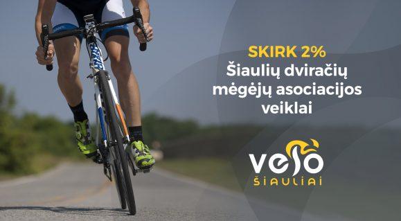 Skirkite 1,2% GPM paramą Šiaulių dviračių mėgėjų klubui